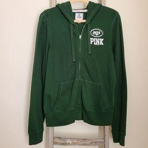 Victoria's Secret NFL PINK New York Jets Zip Up